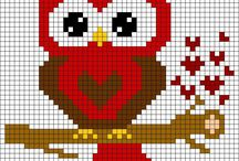 Cross stitch: Ugler