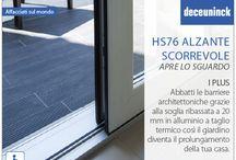 HS76 alzante scorrevole - Apre lo sguardo / Alzante scorrevole HS76 è semplicità che mira ad espandere il tuo piacere domestico. Si integra perfettamente con ogni stile architettonico, grazie alla sua linea elegante e le sue caratteristiche tecniche che lo contraddistinguono. Con sezioni da 125 mm, molto ridotte, per garantire ampi spazi e per godere a pieno della luce naturale. Spessore del vetro da 5 mm a 42 mm. Isolamento termico: Uf=1,2 W/m2K