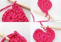 corazones tejidos en crochet