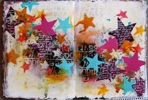 dina wakley / Art journals and mixed media created by Dina Wakley
