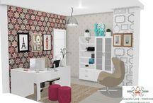 Projetos 3D do meu escritório! Qual decoração escolher?