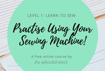 Online Course - Level 1: Learn to Sew / Want to learn to sew?  Make sure to check out our free online course, 'Level 1: Learn to Sew'! In the course, you'll learn how to: thread your sewing machine and change the needle; select stitches; sew straight lines, curves and corners; sew and finish seams; and measure and sew hems.  You'll practise these skills by sewing three projects: some simple stitching exercises, a set of napkins, and a tote bag!