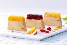Les Duos de l'Été selon Comtesse / Découvrez cette trilogie de foies gras de canard fermier du Sud-Ouest et leurs gelées aux fruits : abricot, mangue ou cranberries.