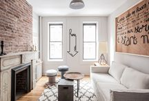 Urban take on Mellow Monochrome / How to infuse a modest and neutral space with warmth and character by using textures and repurposed pieces. Visit us on www.thenewdesignproject.com