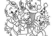 Coloriages de cirque / Le cirque est l'un des divertissements très apprécié des petits. Amusez vos enfants en les laissant colorier ces dessins de clowns et d'animaux de cirques !