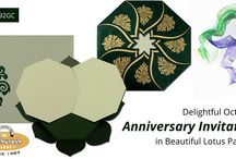 ANNIVERSARY INVITATION CARDS / Anniversary Invitation Cards : Large Varieties With Different Colors