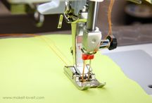 Double needle sewing