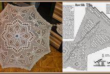 Зонты вязанные / рисунки и схемы к зонтам
