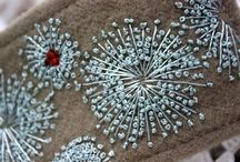 fiber: embroidery: flowers / by Leigh Lindahl