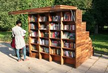 Outdoor library storage / Ideas for book storage for BG's quiet playground zone
