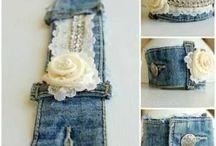 браслеты из джинсов