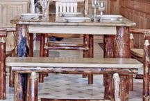 amish log furniture / Amish made log furniture