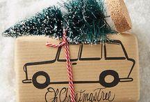 Weihnachten Geschenke verpacken