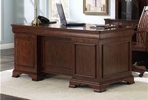 Home Office - Wooden Desk / We have all sizes and styles of wooden desk to fit in your home. Come to our showroom of over 20,000 square feet and shop for the best prices. Located just outside Atlanta near Furniture Row in Tucker.  www.americanafurnitureonline.com