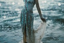 Autumn Siren Shoot / Inspired by the breath taking landscapes of my country, I have collected inspirational ideas for a different bridal shoot, where the bride is an enchanted creature born from the sea. Prevalence of gold and shells' elements.