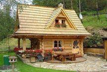Casas e paisagens.