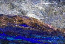 Felted sea/landscape