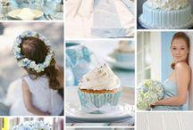 Mariage bleu ciel, ivoire, blanc - {Sky blue, ivory & white wedding}