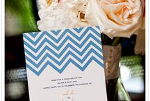 Chevron Chic Wedding / Chevron is a classic and chic choice for wedding invitations, programs, menus, and more.
