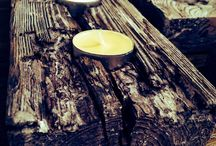 Dekoracje ze starego drewna/ Decoration en vieux bois