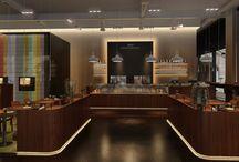 Café Nespresso à Londres / Notre collaboration avec Saguez & Partners dure depuis maintenant plusieurs années. L'agence de design a de nouveau fait appel à nos experts de la 3D pour réaliser les visuels de présentation du café et boutique Nespresso à Londres. Chic et chaleureuse, découvrez les images créées par Piranèse !