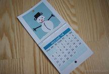 Kalendarz origami z koła / Kalendarz na 2014 rok przygotowany metodą origami z kółek. Na naszej stronce szablon do wydruku. Calendar origami diy