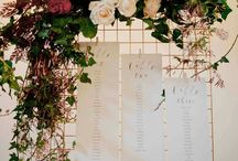 Seating chart Florals