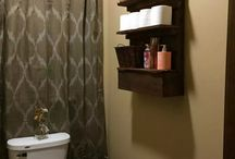 Bathroom accessories (wood)