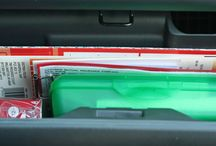 Car Organization / Tips for organizing your car, van, SUV, truck, or whatever you drive.