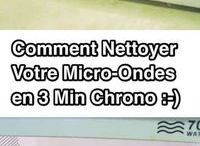 nettoyage micro-ondes