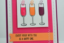 Mixed Drinks Stampin Up! / Stampin Up!, stamping, crafting, alcohol, cocktails, wine, beer, birthday, all occasion, champagne, gifts