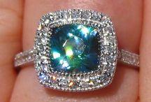 Blue Zircon Jewellery / Blue Zircon Rings, Pendants, Earrings
