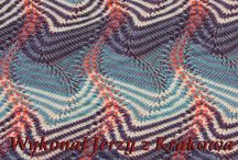 Knitting structure swatches