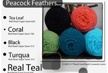 Red Heart Yarn ~ Color Combinations / Red Heart Super Saver yarn ~ color combinations