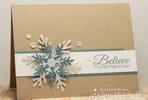 Christmas card inspiration / Insparation for DIY christmas cards