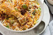 Biriyanis and pulao's