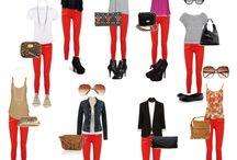 Look jeans Rojo