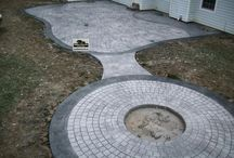 Stamped Concrete Circle Patio
