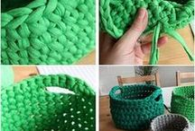 Tshirt Yarn Crochet Project I ❤️