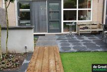 Binnen buiten gevoel / De verbintenis tussen de woning en de tuin is heel belangrijk. Op veel verschillend manier kan je de tuin naar binnen halen.