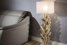 Driftwood Floor and Table Lamps