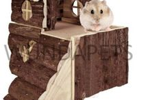 Small Pets House Hamster Mouse Natural Wood Guinea Pig Animal Safe Game Play Toy