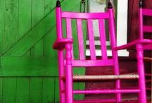 GREEN & pink...