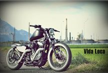 "Sportster Harley ""Bobber Red Line"" by Vida Loca Choppers / Sportster Harley Bobber Red Line Designed by Vida Loca Choppers in 2011"