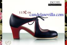 Zapatos en Candela solo flamenco / Zapatos profesionales para bailar flamenco.