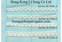 Chemical Lace Trims Wholesale Manufacturer Supplier / We are Lace Trims Wholesale ManuFactory Supplier http://laceandtrimretail.weebly.com Hong Kong Li Seng Co Ltd liseng@biznetvigator.com