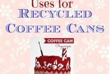 empty coffe, etc., cans reused