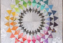 Rainbows & Angles / Flying geese, triangles, paper-piecing, color gradation
