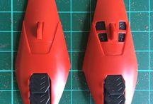 WIP - Custom Red Zeta (Deus Crusher) / Base kit: MG 1/100 Red Zeta Modifications: Custom weapon - Deus Crusher (from Xenoblade Chronicles X)