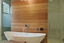 Contemporary Master Baths / A master bathroom should be your own personal oasis. That's why we created a board to share some of our favorite vanities, tubs, and layouts with a contemporary flare.